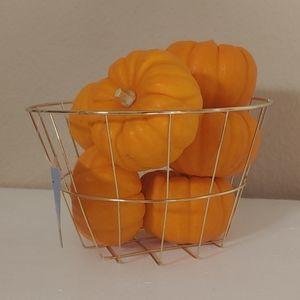 NWT Gold Basket Home Decor